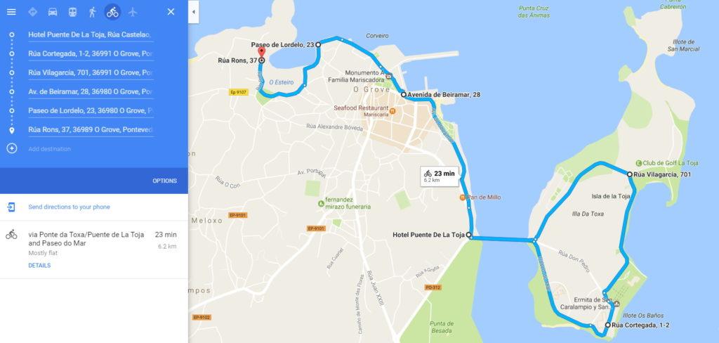 Paseo marítimo O Grove en Google Maps